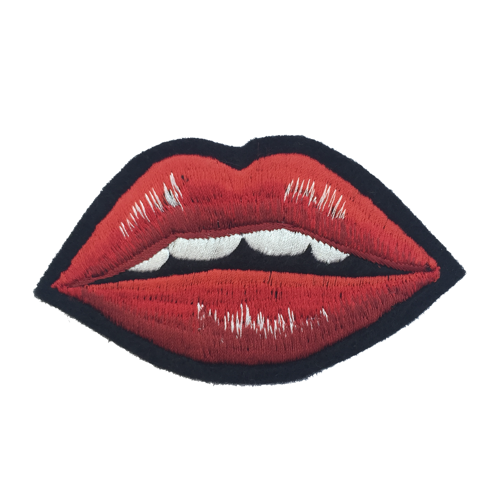Collaborative Embroidered Lip Patch -036