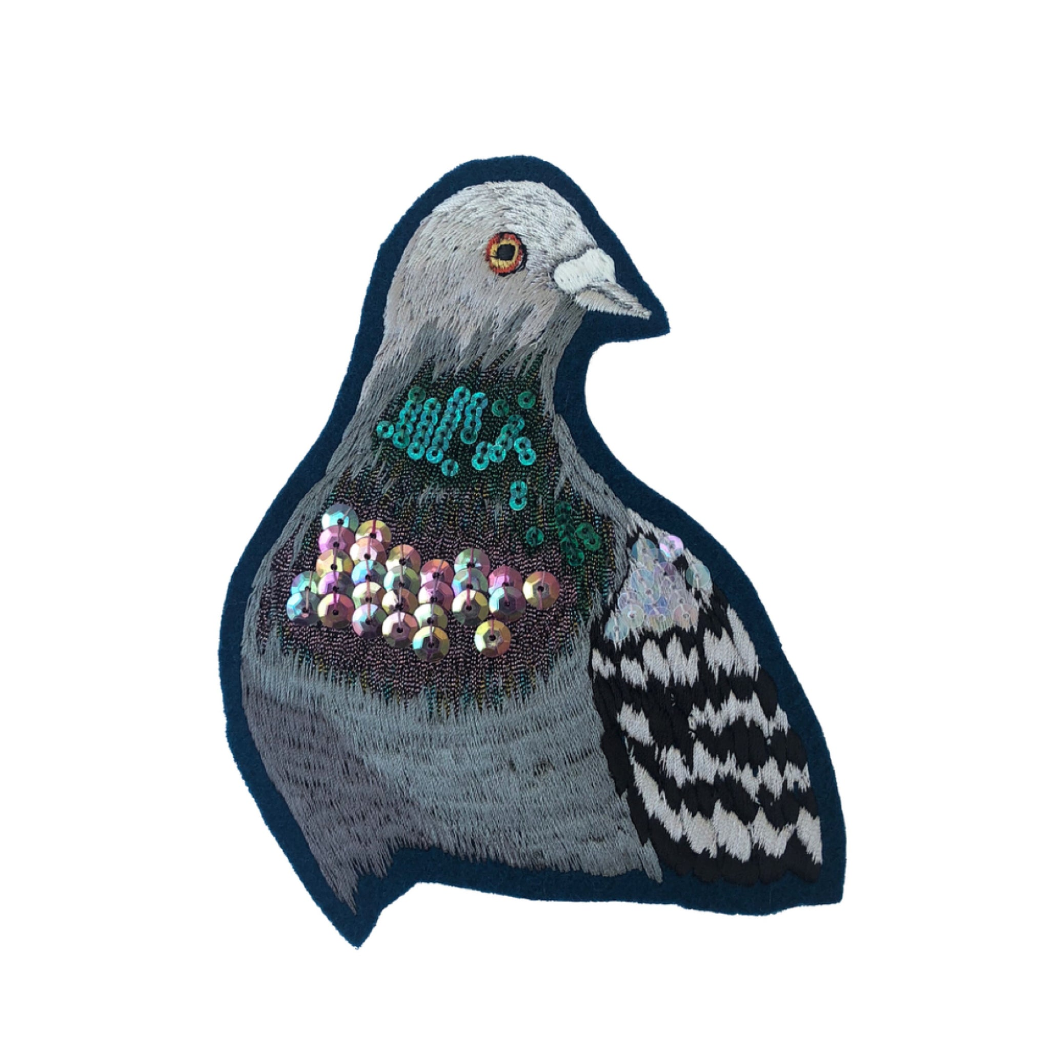 Collaborative Sparkly Pigeon portrait - Christmas Limited Edition 051