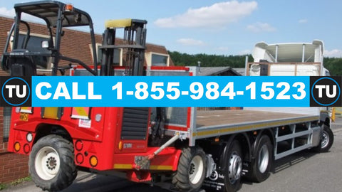 Bolton, ON - Whitby, ON (32' flatbed with mobile forklift and 1 driver/operator)  Pickup and deliver straight-thru same-day  QUOTE TU71180