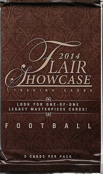 2014 Upper Deck Flair Showcase Football Hobby Pack