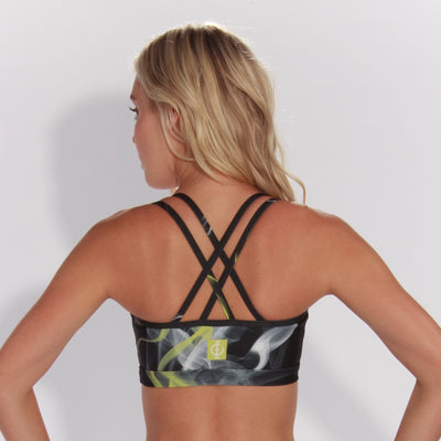 Ink Swirl Strappy Bra