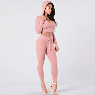 Crop Hooded Tracksuit