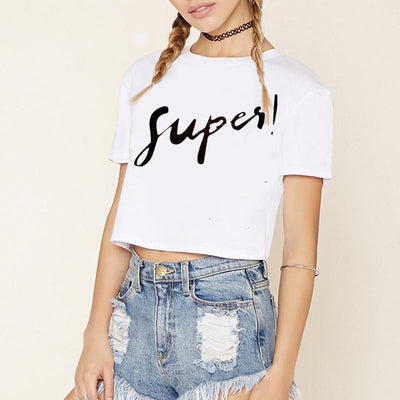 Printed Crop Top