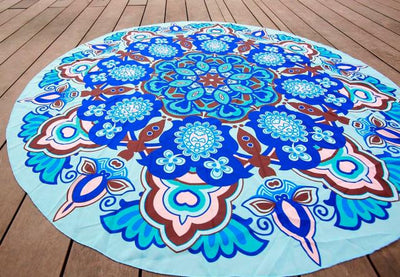 Blue Embroidered Tapestry