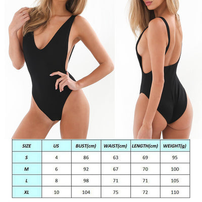 One Piece Simple Swim Suit