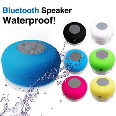 Mini Waterproof Wireless Bluetooth Speaker with Suction Cup