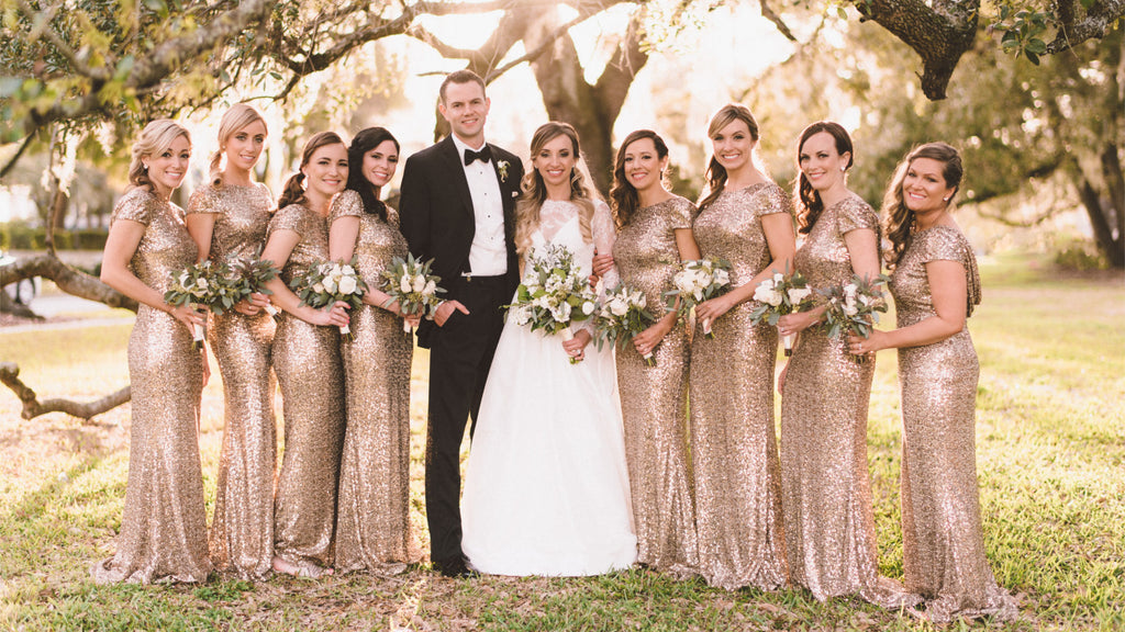 3 Stunning Collections of Gold Bridesmaid Dresses for Your Girl Squad