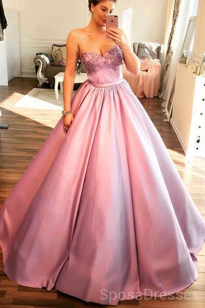 Sweetheart A-line Ball Gown Lilac Evening Prom Dresses, Cheap Custom Sweet 16 Dresses, 18468