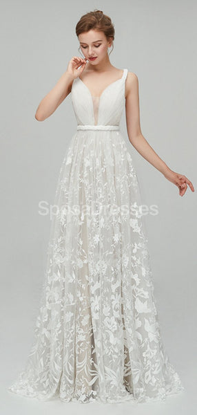 Sexy Backess Lace A-line Cheap Wedding Dresses Online, Cheap Bridal Dresses, WD559