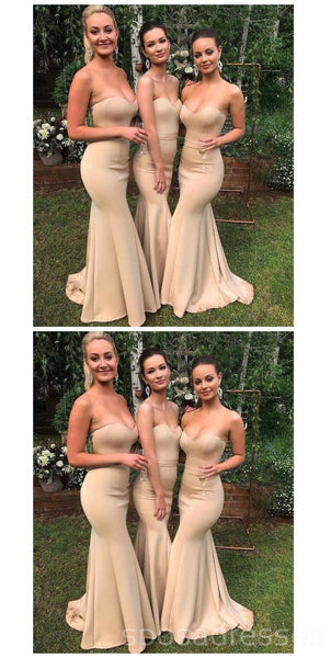 Sweetheart Strapless Mermaid Floor Length Cheap Bridesmaid Dresses Online, WG554