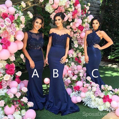 Mismatched sexy different styles mermaid royal blue long mismatched sexy different styles mermaid royal blue long affordable wedding bridesmaid dresses wg127 junglespirit Images