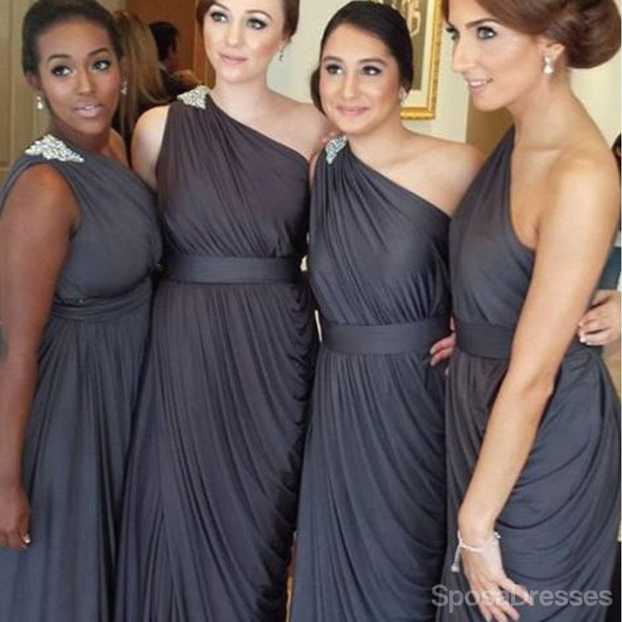 Buy red pink chiffon bridesmaid dresses tagged dark grey pleating chiffon one shoulder dark grey floor length simple elegant online discount bridesmaid dresses wg129 ombrellifo Choice Image