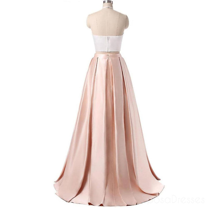 Simple Sexy Two Pieces Long Evening Prom Dresses, Popular Cheap Long 2018 Party Prom Dresses, 17244