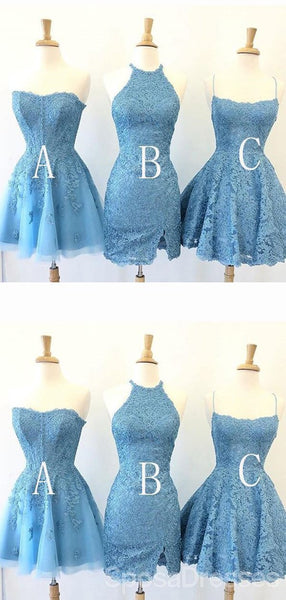 Short Blue Cheap Short Homecoming Dresses Online, Cheap Short Prom Dresses, CM836