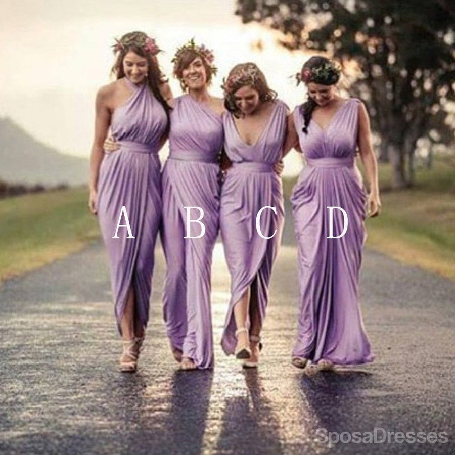 Buy trendy mismatched bridesmaid dresses sposadresses charming mismatched pleating different styles lilac floor length cheap wedding guest dresses wg145 ombrellifo Images
