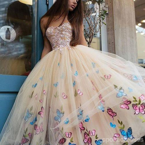 Unique Sweetheart Butterfly Flower Pink Cheap Homecoming Dresses Online, Cheap Short Prom Dresses, CM750