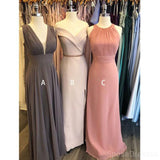 Mismatched Cheap Long Cheap Bridesmaid Dresses Online, WG616