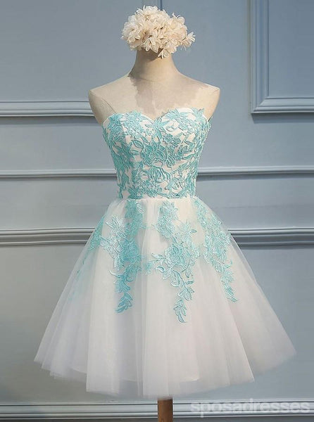 Sweetheart Green Lace Homecoming Prom Dresses, Affordable Sweet 16 Dresses, CM355