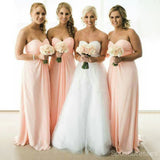Simple Cheap Chiffon Sweet Heart A Line Floor-Length Bridesmaid Dresses, WG173