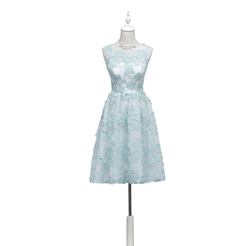 Unique Sage Green Lace Cute Homecoming Prom Dresses, Affordable ...