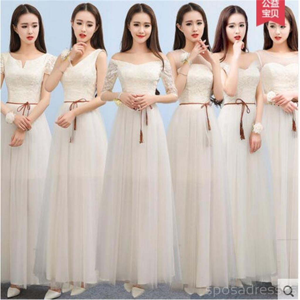 Mismatched lace tulle long bridesmaid dresses cheap custom long mismatched lace tulle long bridesmaid dresses cheap custom long bridesmaid dresses affordable bridesmaid gowns ombrellifo Image collections