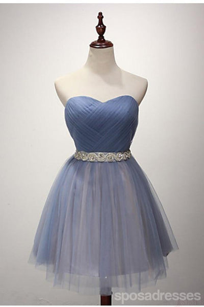 Strapless Sweetheart Two Colors Tulle Homecoming Prom Dresses, Affordable Short Party Prom Sweet 16 Dresses, Perfect Homecoming Cocktail Dresses, CM356