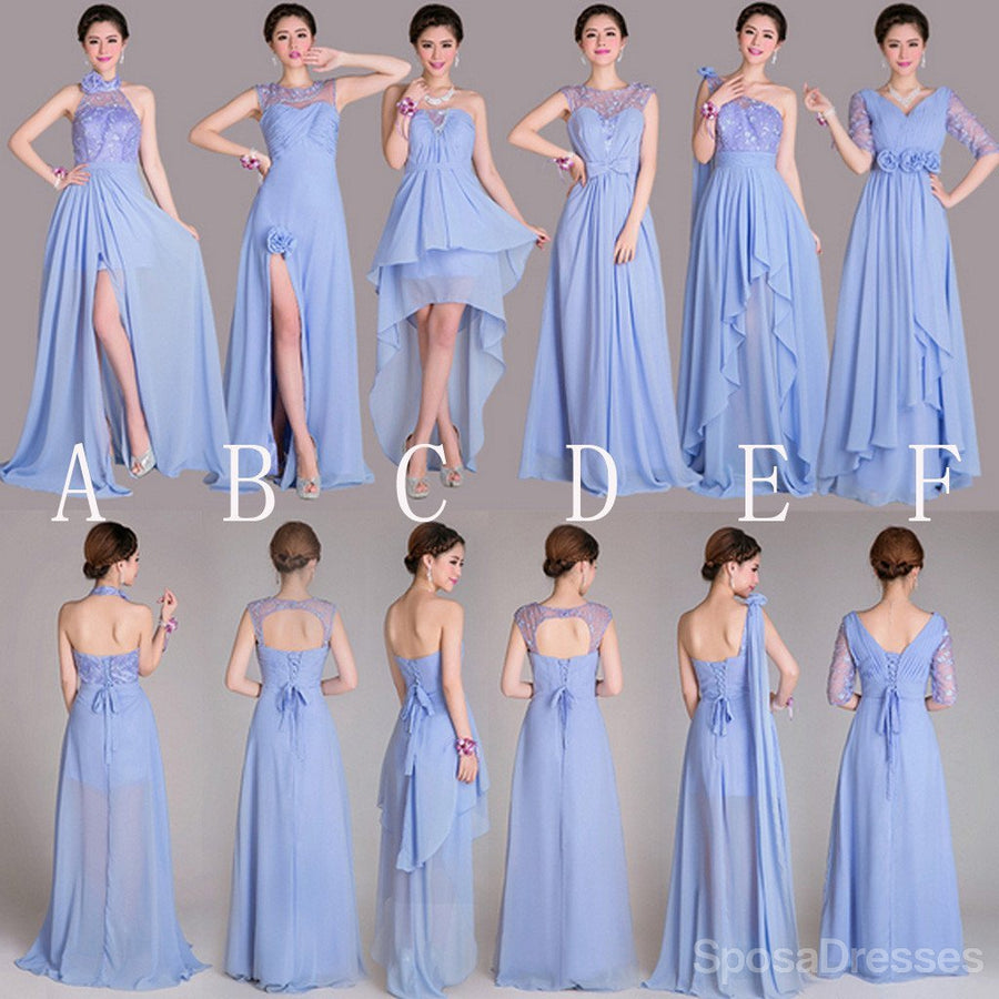 Buy trendy mismatched bridesmaid dresses sposadresses beautiful mismatched differeent styles a line lace up back inexpensive long bridesmaid dresses for wedding ombrellifo Choice Image