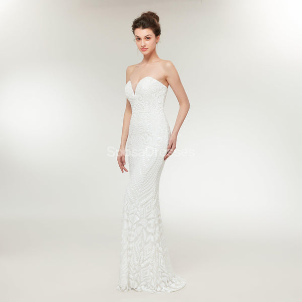 Sweetheart Lace Mermaid Cheap Wedding Dresses Online, Cheap Unique Bridal Dresses, WD584