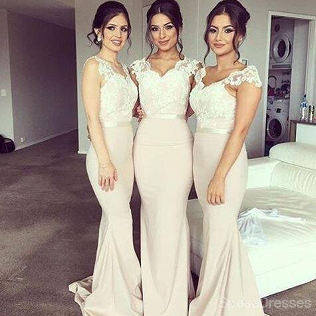 Popular junior pretty blue satin white lace short bridesmaid charming off shoulder sweet heart lace sexy mermaid impressive long wedding party dresses wg194 junglespirit Gallery