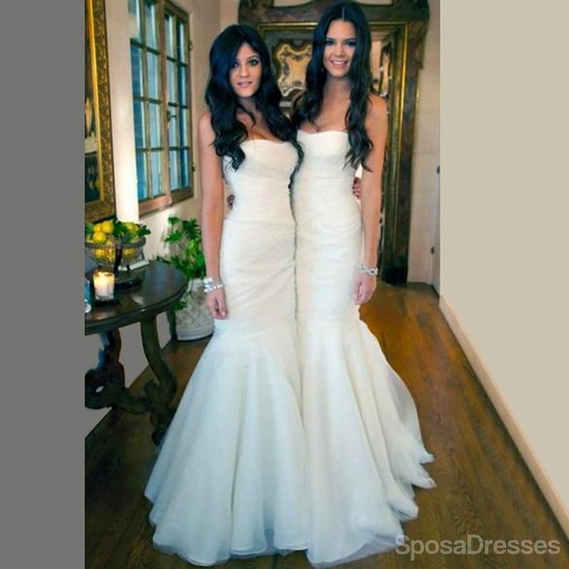 Gray Lace Beaded Soft Tulle Long Bridesmaid Dresses, Cheap Custom Long Bridesmaid Dresses, Affordable Bridesmaid Gowns, BD018