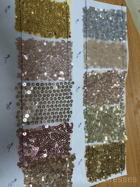 Gold Sparkly Side Slit Long Sexy Evening Prom Dresses, Cheap Custom Sweet 16 Dresses, 18503