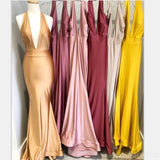 Mismatched Brown Mermaid Sexy Cheap Bridesmaid Dresses Online, WG570