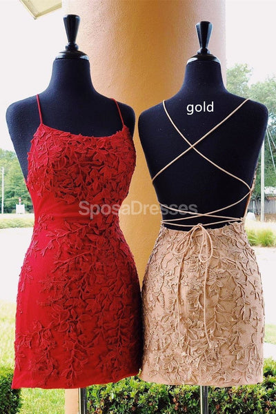 Sexy Backless Pink Lace Mermaid Cheap Homecoming Dresses Online, Cheap Short Prom Dresses, CM801