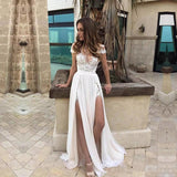 Sexy Short Sleeve See Through Lace Evening Prom Dresses, Popular Lace Party Prom Dresses, Custom Long Prom Dresses, Cheap Formal Prom Dresses, 17194