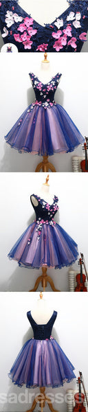 Two Straps V Neckline Cute Homecoming Prom Dresses, Affordable Short Party Prom Dresses, Perfect Homecoming Dresses, CM321