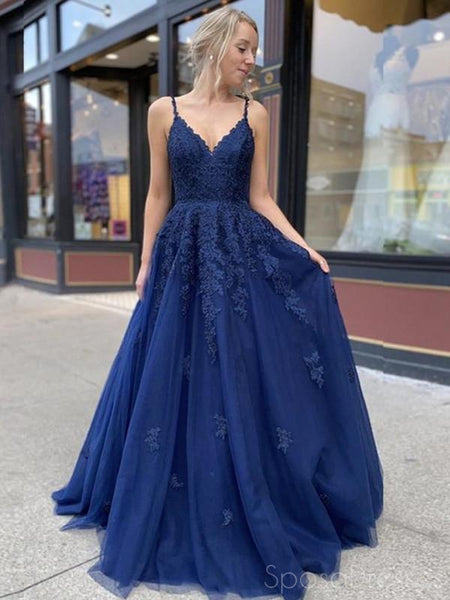 A-line Applique Sleeveless Custom Prom Dresses, Sweet 16 Prom Dresses, 12471