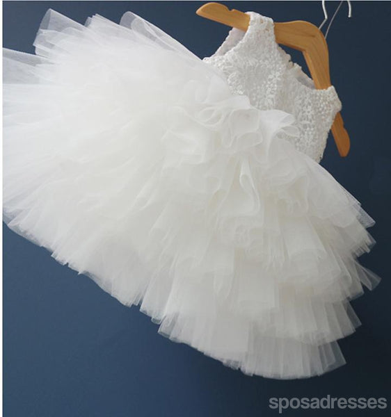 Off White Lace Top Tulle Flower Girl Dresses Cute Tutu Dresses For