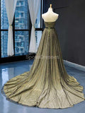 Sweetheart Black Green Elegant Long Evening Prom Dresses, Evening Party Prom Dresses, 12232