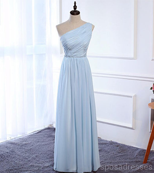 Cheap Sky Blue Floor Length Mismatched Chiffon Bridesmaid Dresses Online, WG538