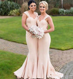 Simple Cap Sleeves Mermaid Cheap Long Bridesmaid Dresses Online, WG343