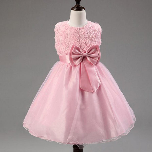 Pink Beautiful On Sale Lovely Flower Girl Dresses, Weding Cheap Little Girl Dresses with Bow, FGS022