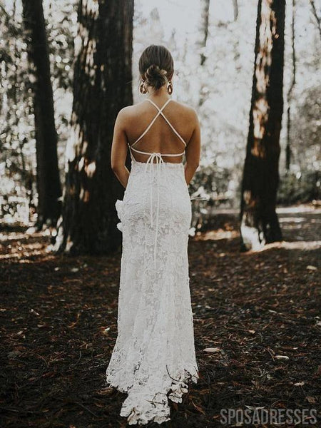 Sexy Backless Lace Mermaid Wedding Dresses Online, Cheap Bridal Dresses, WD660