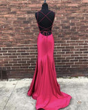 Sexy Backless Mermaid Long Evening Prom Dresses, Cheap Custom Party Prom Dresses, 18605