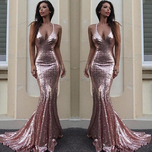 ea62d0711c Sexy Backless Rose Gold Sequin Mermaid Evening Prom Dresses, Popular 2018  Party Prom Dresses, Custom Long Prom Dresses, Cheap Formal Prom Dresses, ...