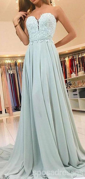 Sweetheart Sage Green Chiffon Cheap Bridesmaid Dresses Online, WG778