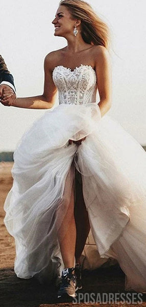 Simple Sweetheart A-line Cheap Wedding Dresses Online, Cheap Wedding Gown, WD673