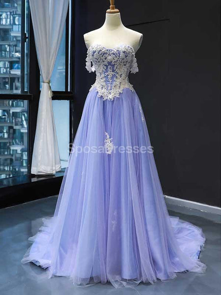 Off Shoulder Lilace See Through Long Evening Prom Dresses, Evening Party Prom Dresses, 12240