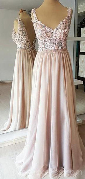 Sexy Backless Lace Beaded Long Evening Prom Dresses, Cheap Custom Sweet 16 Dresses, 18558