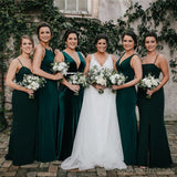 Emerald Green Mermaid Cheap Long Cheap Bridesmaid Dresses Online, WG632