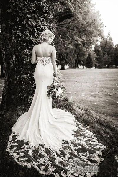 Sexy Lace Mermaid Cheap Wedding Dresses, Cheap Wedding Gown, WD707